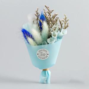 Queue Herbe Fleurs réel Bouquet de fleurs Saint Valentin Séché Fête des Mères Cadeau Mini Bouquet de fleurs artificielles Décoration