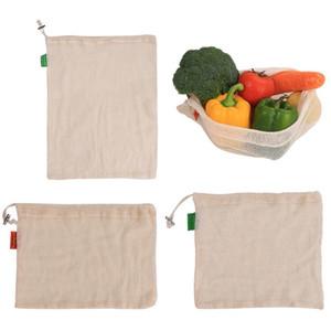 Фрукты Овощи Сетка Мешок Покупки Hangbag Drawstring Draw Pocket Многоразовые Хлопок Желтый Маленький И Изысканный Новый 5 9yn C1