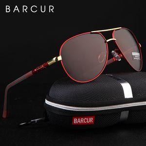 BARCUR Aluminum Magnesium Men's Sunglasses Men Polarized Coating Mirror Glasses oculos Male Eyewear Accessories For Men CX200703