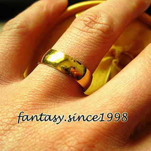 wholesale 50pcs Gold ring women 6MM Wide Stainless Steel Rings Wedding Bands Jewelry wholesale lots bulk dropshipping