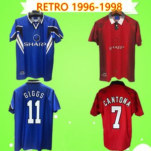 1996 1997 1998 RETRO MAN United soccer jerseys UTD 96 98 Vintage Classic football shirts home red away blue CANTONA BECKHAM SOLSKJAER KEANE