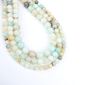 Amazon Natural Refill Ronda semi-preciosas perlas piedra suelta Beads de bricolaje para la Realización de la pulsera del collar lotes al por mayor a granel