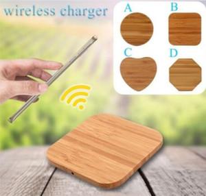빠른 태블릿을 충전 USB 케이블 전화 아이폰 (11) 삼성 주 10의 충전으로 충전 도크 대나무 무선 충전기 나무 나무 패드 치