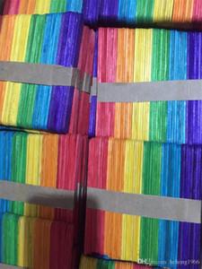 Colorate Popsicle bastoni di legno naturale di legno del gelato Manuale giocattolo per bambini fai da te a mano artigianato Arte Lavorazioni Lolly torta lavora 3XS Y