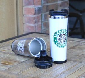 Starbucks tasses de café double mur tasse à café Parfaits Fashion One Choisir Cup Starbucks Noir Coupes en Thermos stock Livraison gratuite