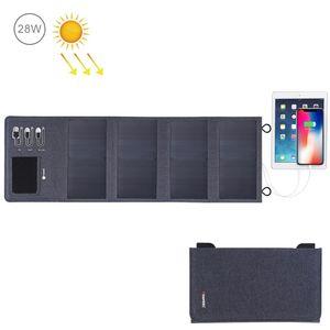 HAWEEL 28W dobrável Painel Solar Charger 8000mAh Power Bank com 5V 3.5A Max duplas Portas USB