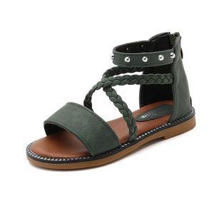 Fashion Rivet Gladiator 2020 Summer Shoes For Girls Dress 3 4 5 6 7 8 9 10 11 12 Kid Beach Sandal For Children Princess Size 37j38j#