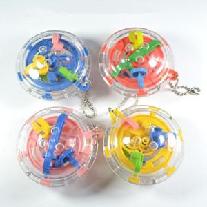 Quebra-Maze Magic Ball Cube Toys 3D Mini Labyrinth Toy aprendizagem para as crianças Puzzle Game Toy presente para crianças