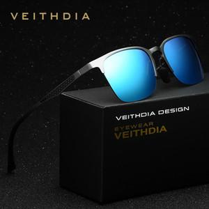 Veithdia unisex alüminyum magnezyum marka güneş gözlüğü polarize lens vintage gözlük aksesuarları güneş gözlükleri erkekler / kadınlar 6631