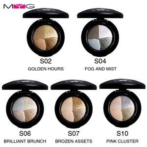 MYG Eyes makeup 4colors Mineral Eye Shadow Metallic Natural Waterproof Eye shadow Easy to Wear Long-lasting Matte Wet Eye Shadow