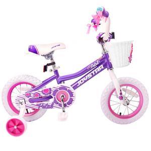 Serie Totem JOYSTAR 14 pulgadas de la muchacha de los niños Bicicleta rosada y púrpura de bicicleta de los niños de tres a seis paseo Boy Envejecido en los juguetes