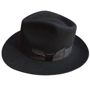 Classic Men's Wool Felt Godfather Fedora Hat - Gangster Mobster Michael Jackson Gentleman Hat -MANY COLORS