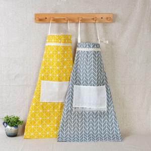 Avental Do Laço da manta Coréia Cozinha Ajustável Cozinha Avental Unisex Cozinheiro Cozinha Avental Com Bolsos Têxteis Para Casa Ferramenta DHL WX9-1309