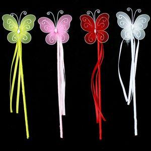 Eco-Friendly Novas cores Princesa Borboleta Fada Magic Wand Varas Birthday Party Favor Menina do presente 4Color Branco Rosa Vermelho Amarelo