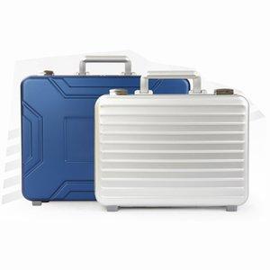 Мужской Металл Портфель из алюминиевого сплава магния путешествия дела TSA замок портфель высокого класса Тонкого Стиль Tote Case Document