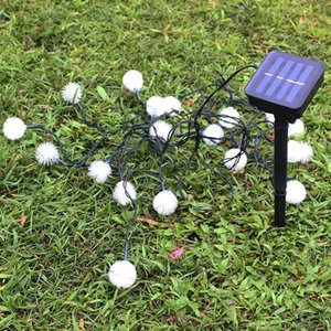 Solar snowball string lamp outdoor indoor banquet ballroom home room hotel Halloween Christmas festival decoration small lights