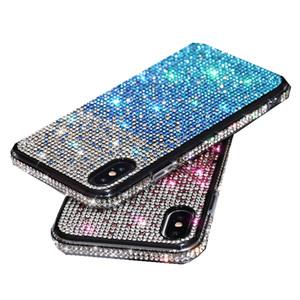 iPhone 12 미니 11 Pro XR X XS Max 8 7 6 플러스 라인 석 전화 케이스 패션 프리미엄 럭셔리 블링 반짝이 Shockproof Case Girl