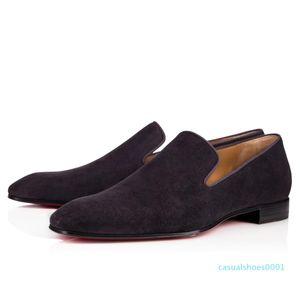 Gentleman Party Wedding Dress Dandelion Oxfords Flat Mens Business Slip On Red Bottom Man Loafer Luxury Designer Shoes AS21