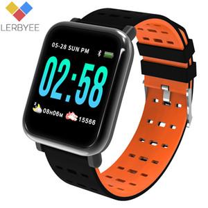 A6 الذكية ووتش حول معصمه الذكية رصد معدل ضربات القلب الرياضة للياقة البدنية المقتفي النوم مراقب الرياضة للماء ووتش باند لIOS الروبوت هدايا