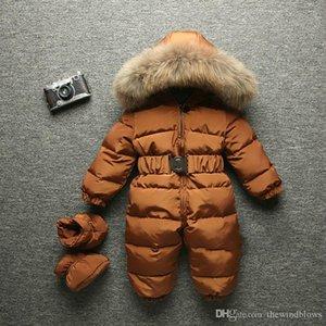 2018 Quente Bebê do inverno Romper infantil Crianças Snowsuit Casacos menina recém-nascida e meninos Jumpsuit Neve Fatos de macaco capa da pele