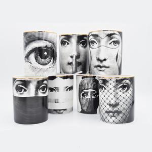 Fornasetti Kerzenständer Candelabra Home Decor Exquisite Keramik-Glas-Cup Retro Lina Gesicht Vorratsbehälter Arrangieren Blume Dekorieren SH190924