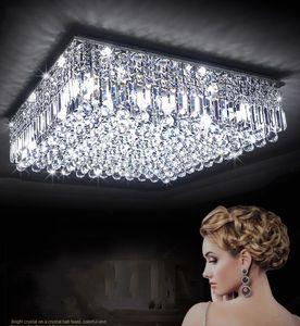 Lüks Modern Kristal Tavan Işık Yüksekliği Kaliteli Lambalar Oturma Odası Otel Koridor Koridor Salon Için LED Ampuller LLFA dahil