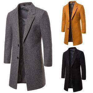 Atacado Mens Designer Clothes Trench Coats 2019 Winter Fashion Symmetric Painéis Único Breasted Windbreaker Coats Jackets Men Casacos