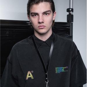 20SS Arn0defrance Drop 2 New Reflective Impressão T da letra do reverso High Street solto Moda Mulheres Homens Casal Designer T-Shirt HFXHTX122