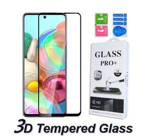 3D-9H Full Cover Ausgeglichenes Glas für Samsung Galaxy note10 S10 Lite A30 50 70 A80 90 71 91 M10 M20 M60 S Displayschutzfolie gebogene Kante im Kasten