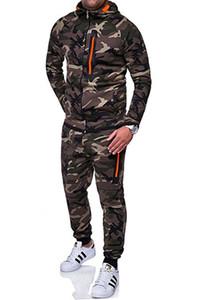Стильные мужские дизайнерские спортивные костюмы Камуфляжная спортивная одежда для мужчин с капюшоном Мужская спортивная одежда с капюшоном с капюшоном Спортивный костюм с капюшоном