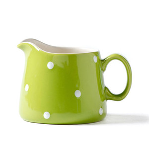 Großhandel 8 Oz Tupfen-Keramik Milchkännchen, Milchkanne, Ausgießer, Pitcher Krug, Keramik Coffee Creamer Tasse