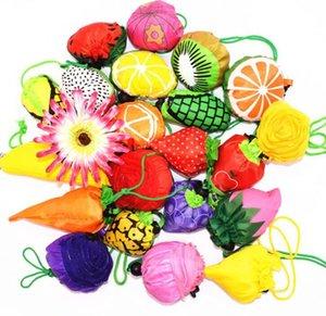 fruit sac éco sac d'épicerie réutilisable achats Fraise de stockage sac pliable Sacs fourre-tout Voyage LJJK1677