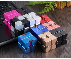 Premium Metal Infinity Cube تململ لعبة الألومنيوم تشوه السحرية اللانهائي مكعب تململ لعب الإجهاد المخلص ل EDC القلق (التجزئة)
