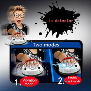 Polígrafo teste Tricky engraçado ajustável Adulto Micro choque elétrico Lie Detector chocante Presentes Mentiroso Verdade Festa Consolas Toy quentes