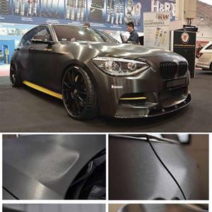 Gris Titane Aluminium brossé vinyle Wrap voiture Wrap Film en métal avec Bubble revêtement gratuit 1.52x30m / rouleau