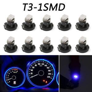 Areyourshop 10PCS T3 네오 쐐기 LED 전구 계기판 클러스터 실내 조명 순수 블루 자동차 범용 조명 액세서리