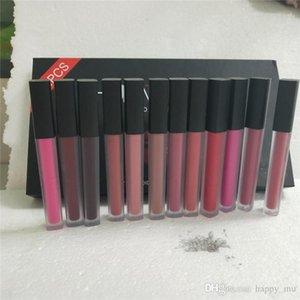 Hot 12 Farben / Set Matt Lip Gloss Schönheit Flüssiger Lippenstift Make-up Wasserdichte langlebige Lipgloss Trophy Ehefrau Icon Vixen 1Set