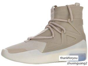 Fear of God 1 Oatmeal Zip Basketball Boot for Men FOG Sports Boots Mens Sport Shoes Men's Luxury Sneakers Male Sneaker Hommes Baskets