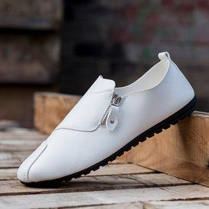 Loafers Zip Mann Schuhe Herren Loafer PU-Leder atmungsaktiv beiläufige Schuhe der Männer Frühlings-Herbst-Boot Chaussure Homme