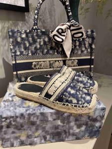 2020 New Luxury Obliques Designer Frauen Granville Espadrilles Mode-Plattform-Frauen-Fischer Schuhe Oblique Espadrilles Mehrere Farben h5