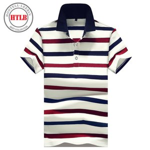 Htlb Brand New Horse Shirts 2018 Summer Luxury Breathable Ralphmen Camisa Masculina Striped Polo Shirt Men C19041501
