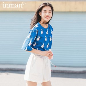 INMAN 2020 Summer New Arrival Pure Cotton Cute Funny Printed Vitality Leisure Short Sleeve T-shirt CX200604