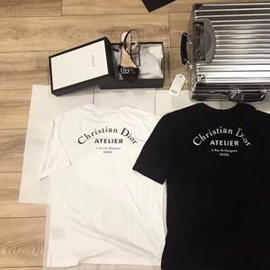 Camiseta de manga corta, tela importada, camiseta de manga corta, exquisita camiseta de manga corta bordada a mano.