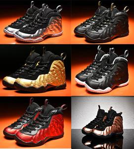 Youth Pro Gold Metallic Доктор Дум Royal Kids Баскетбол обувь Девочка Мальчик Хардуэй Баскетбол Кроссовки Обувь Спорт Кроссовки 11C-3Y