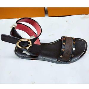 Hot Sale-Sandale Luxus bom Lady Herren Bunte Leinwand Brief Anatomische Leder Schlitten 7 Stil Modell H03