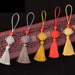Mini Chinese Knot Cord Key Tassel Beaded Fringe 6.5CM Chinese Knots For Fan Comb Bookmark Bag Hats Car Cross-stitch Ornaments ZGJ08