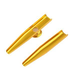 Metal creativo Mirlitón 4 colores práctico regalo perfecto flauta diafragma armónica regalo para el amante de los niños de Navidad