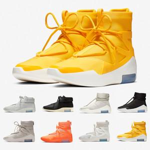 Nike Air Fear of God 1 Amarillo FOG Fear of God X 1 SA 180 Botas Raid Osso Leve Designers de Luxo Tênis de Vela Esportes ao ar livre Tênis 36-46