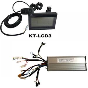 Bicicleta eléctrica KT-LCD3 pantalla 24V 36V 48V 60V 72V 18 Mosfet Pantalla LCD 1500W 2000W DC Sine Wave Ebike Display Controller