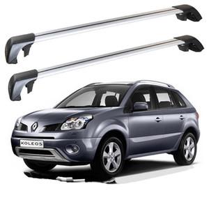 Pour Renault Koleos 2009-2017 toit rack Traverses porte-bagages Bar Bars haut Racks Boîtes rail alliage d'aluminium 2pcs
